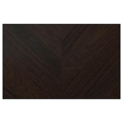 HEDEVIKEN Door/drawer front, dark brown stained oak veneer, 60x38 cm