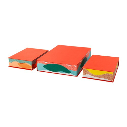 IKEA HEJSAN box file, set of 3 Suitable for papers, photos and other small things.
