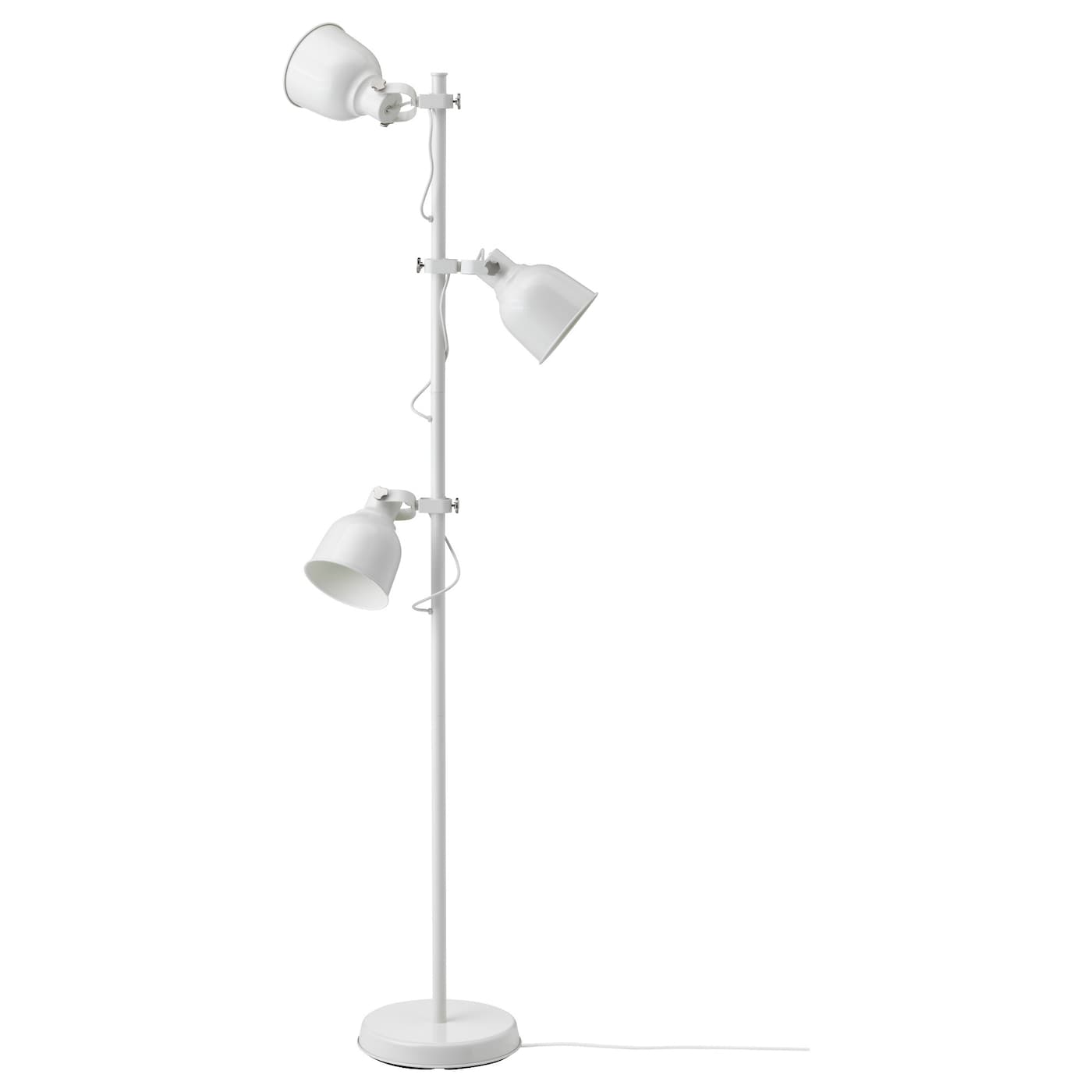 hektar floor lamp with 3 spot white ikea. Black Bedroom Furniture Sets. Home Design Ideas