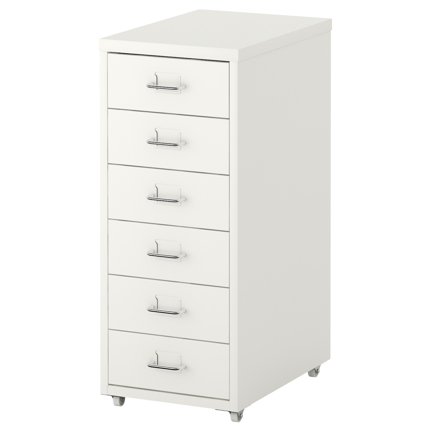 IKEA HELMER drawer unit on castors Drawer stops prevent the drawer from being pulled out too far.