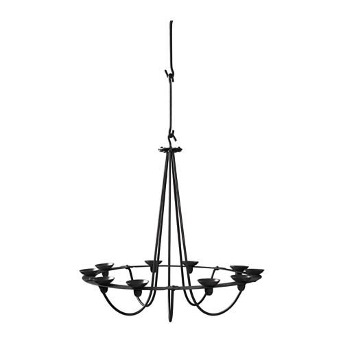 Hemmakr chandelier for 10 candles black ikea ikea hemmakr chandelier for 10 candles 4 removable hooks height adjustable according to need aloadofball Choice Image