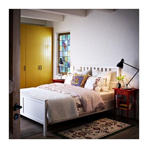 hemnes bed frame white stain leirsund 180x200 cm ikea