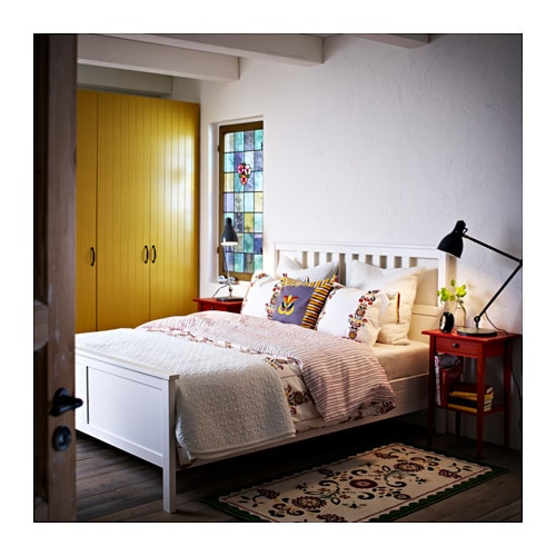 Hemnes Bett Wei? Lackiert : IKEA HEMNES bed frame Made of solid wood, which is a hardwearing and