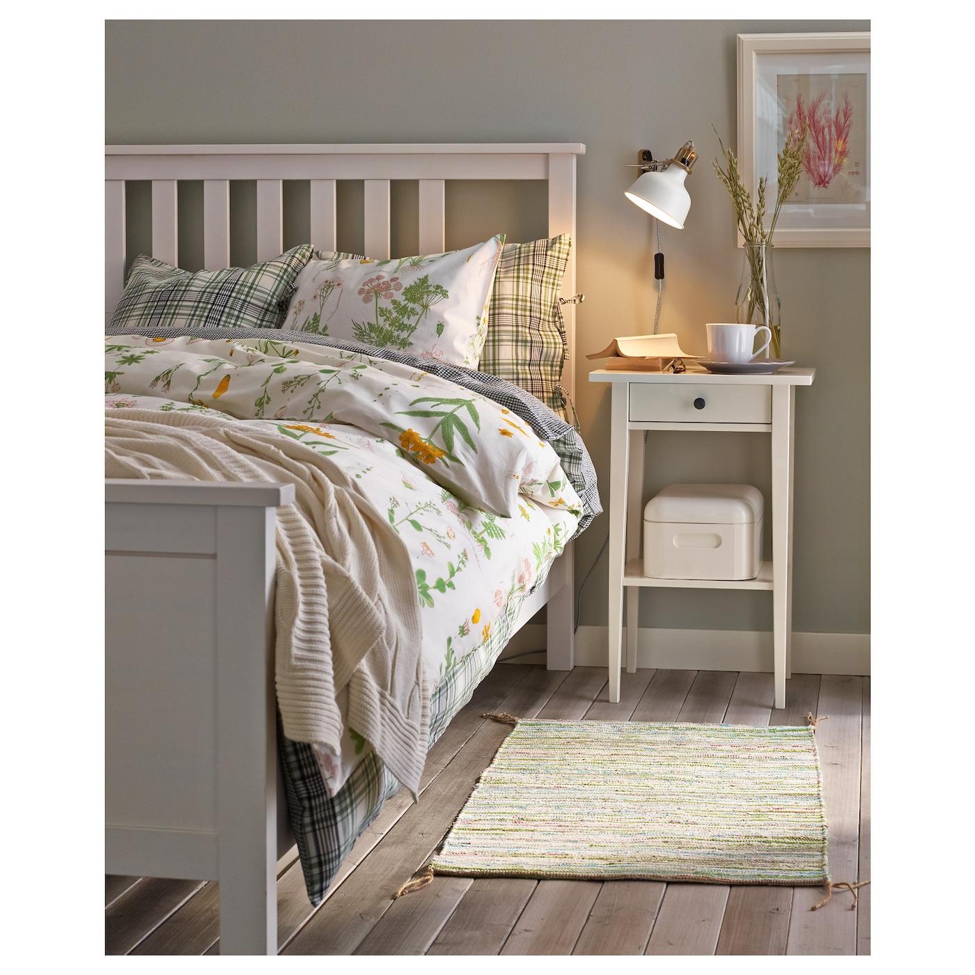 HEMNES Bed frame White stain/lönset 180x200 cm - IKEA