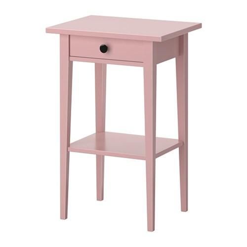 Hemnes Bedside Table Pink 46x35 Cm Ikea