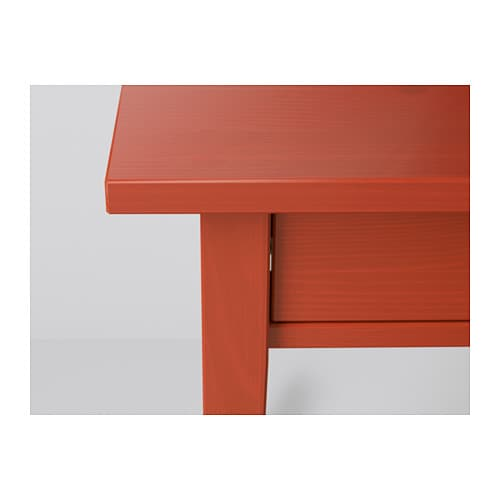 HEMNES Bedside Table Red 46x35 Cm IKEA
