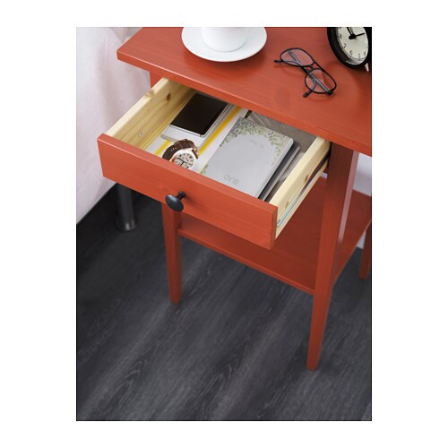Hemnes Bedside Table: HEMNES Bedside Table Red 46x35 Cm