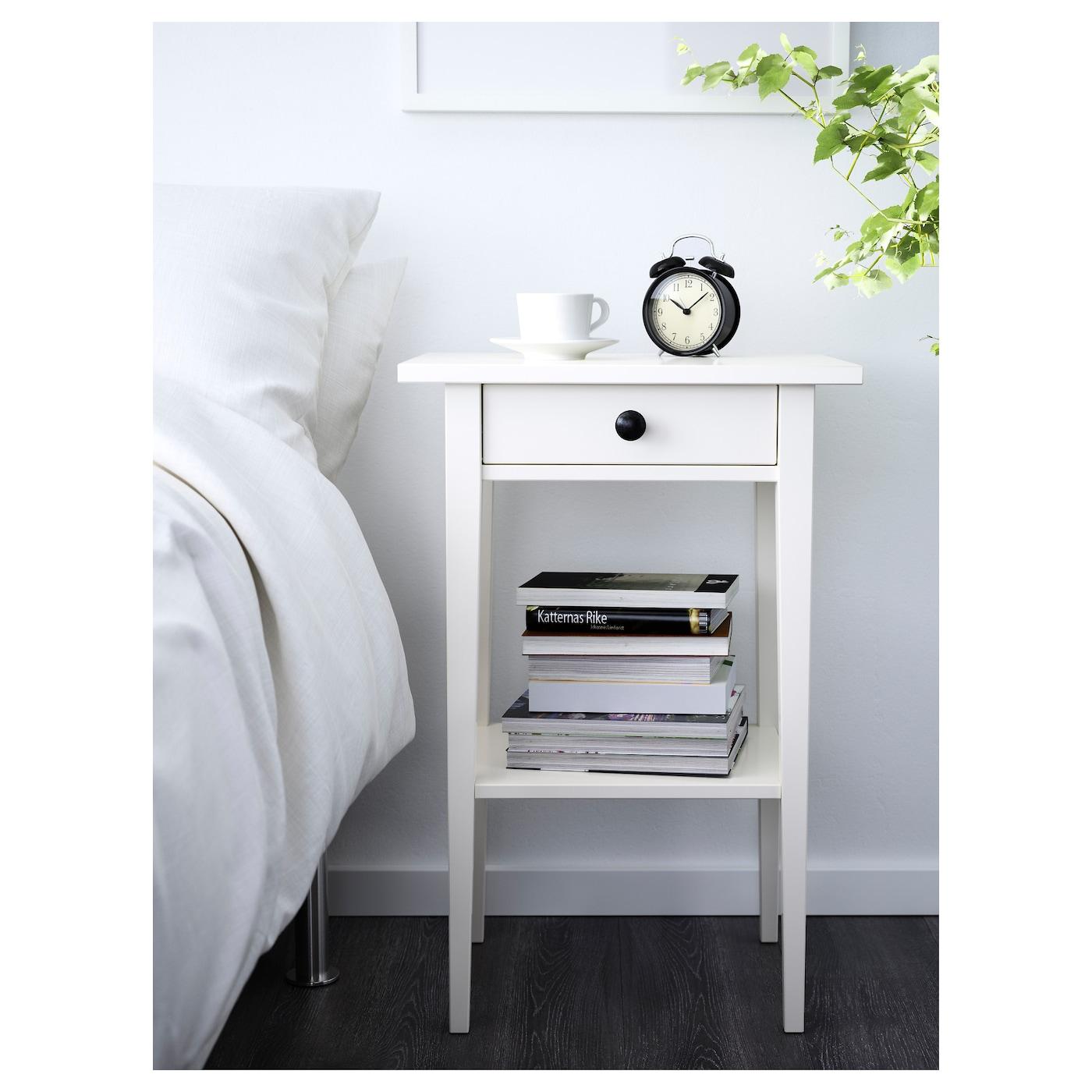 hemnes bedside table white stain 46 x 35 cm ikea