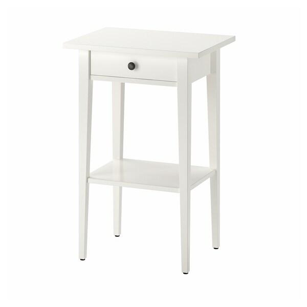 HEMNES Bedside table, white, 46x35 cm