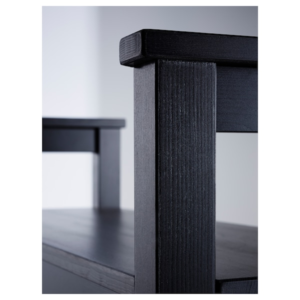 HEMNES bench with shoe storage black-brown 85 cm 32 cm 65 cm