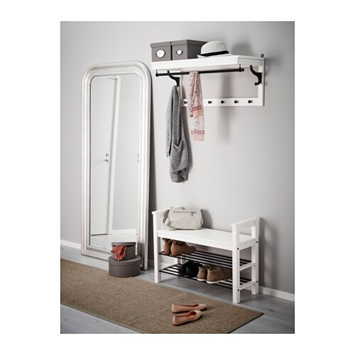 Hemnes bench with shoe storage white 85x32 cm ikea for Ikea hemnes shoe storage