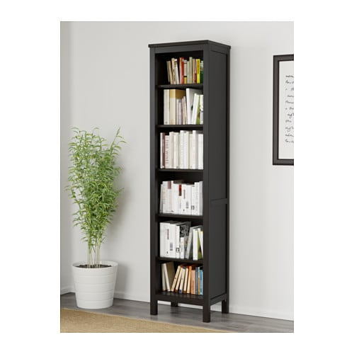 hemnes bookcase black brown 49x197 cm ikea. Black Bedroom Furniture Sets. Home Design Ideas
