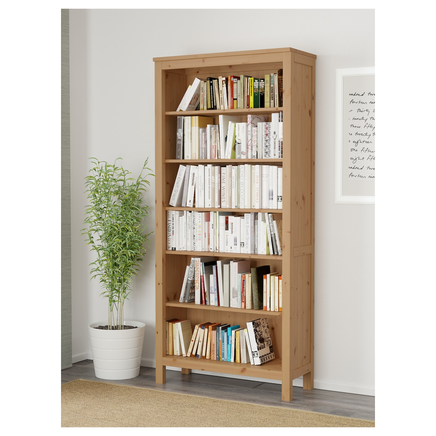 HEMNES Bookcase Light brown 90×197 cm IKEA