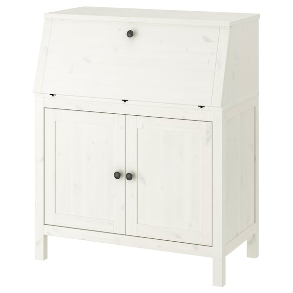 HEMNES Bureau, white stain, 89x108 cm