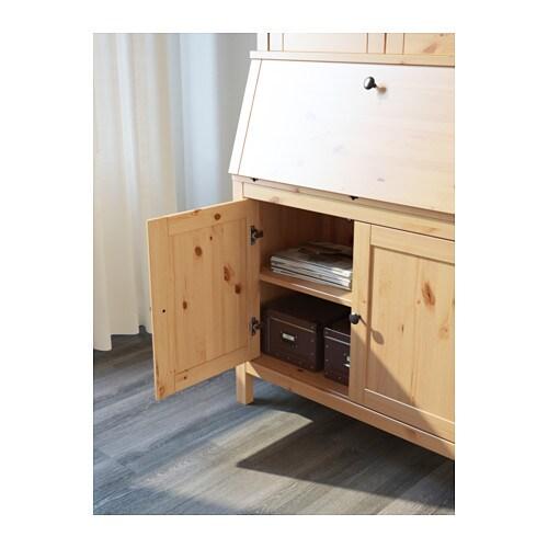 HEMNES Bureau with add on unit Light brown 89×197 cm IKEA