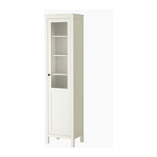 hemnes cabinet with panel glass door ikea solid wood has a natural
