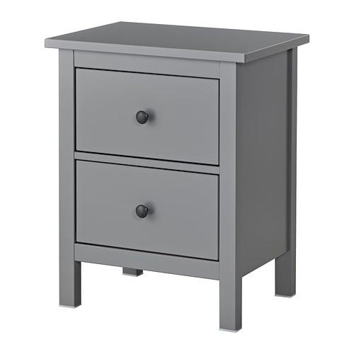 HEMNES Chest of 2 drawers Grey 54×66 cm IKEA