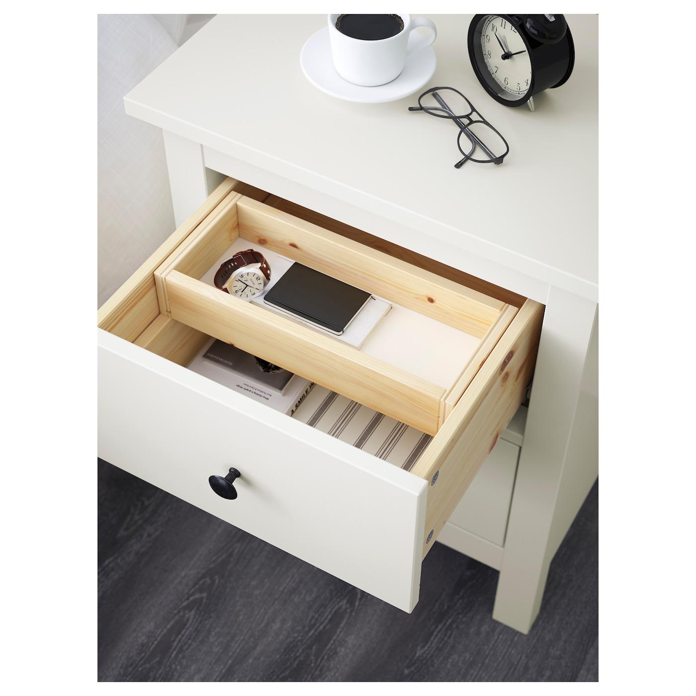 hemnes chest of 2 drawers white 54x66 cm ikea. Black Bedroom Furniture Sets. Home Design Ideas