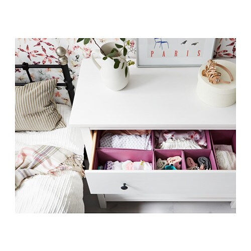 Ikea Dresser White Vs White Stain ~ IKEA HEMNES chest of 3 drawers Made of solid wood, which is a