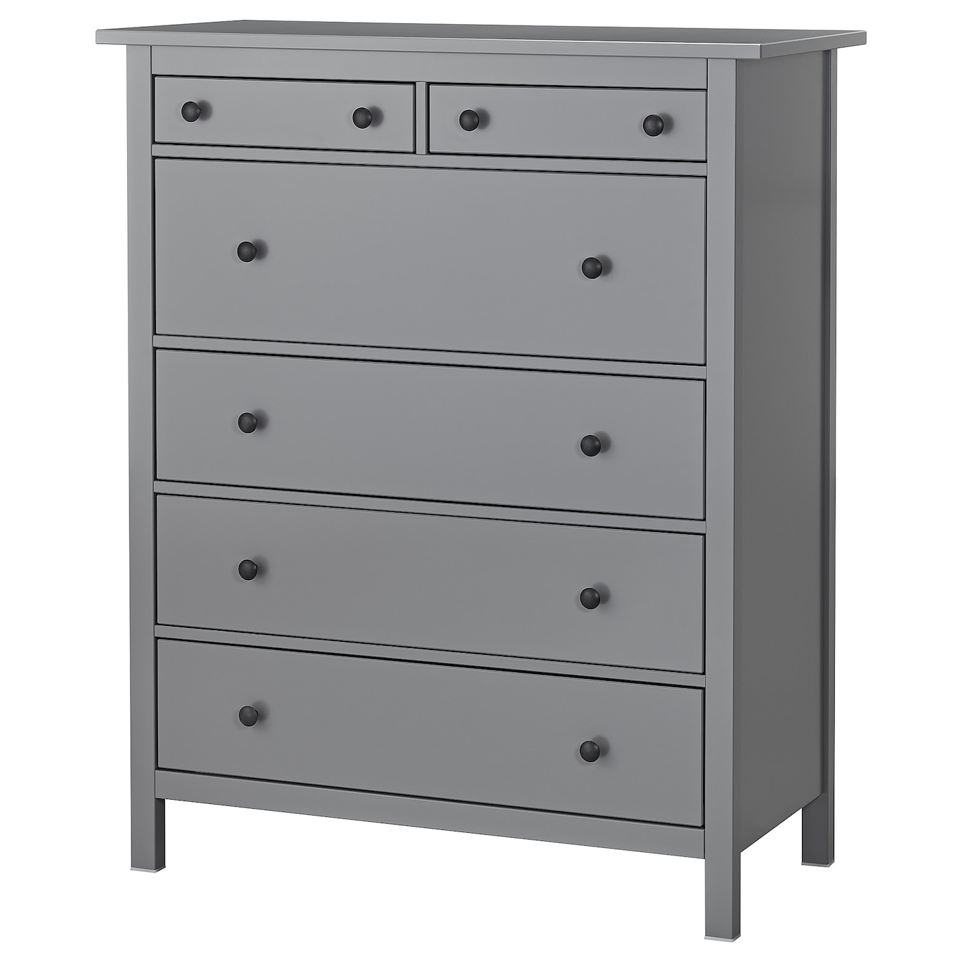 Hemnes chest of 6 drawers grey 108 x 131 cm ikea for Ikea grey bedroom furniture