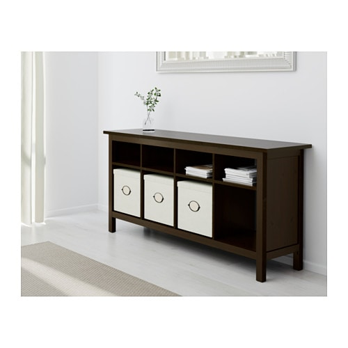 Hemnes Console Table Black Brown 157x40 Cm Ikea