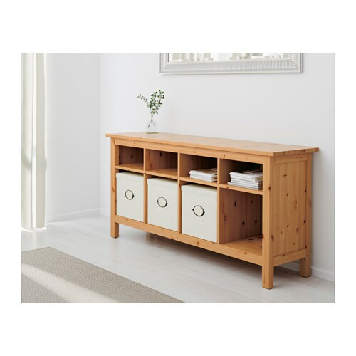 hemnes console table light brown 157x40 cm ikea. Black Bedroom Furniture Sets. Home Design Ideas