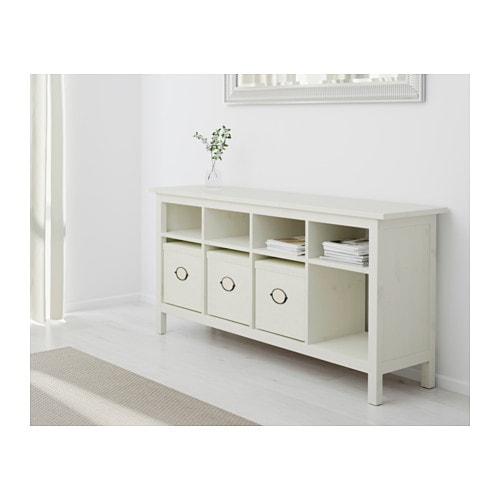 IKEA HEMNES console table Solid wood has a natural feel.