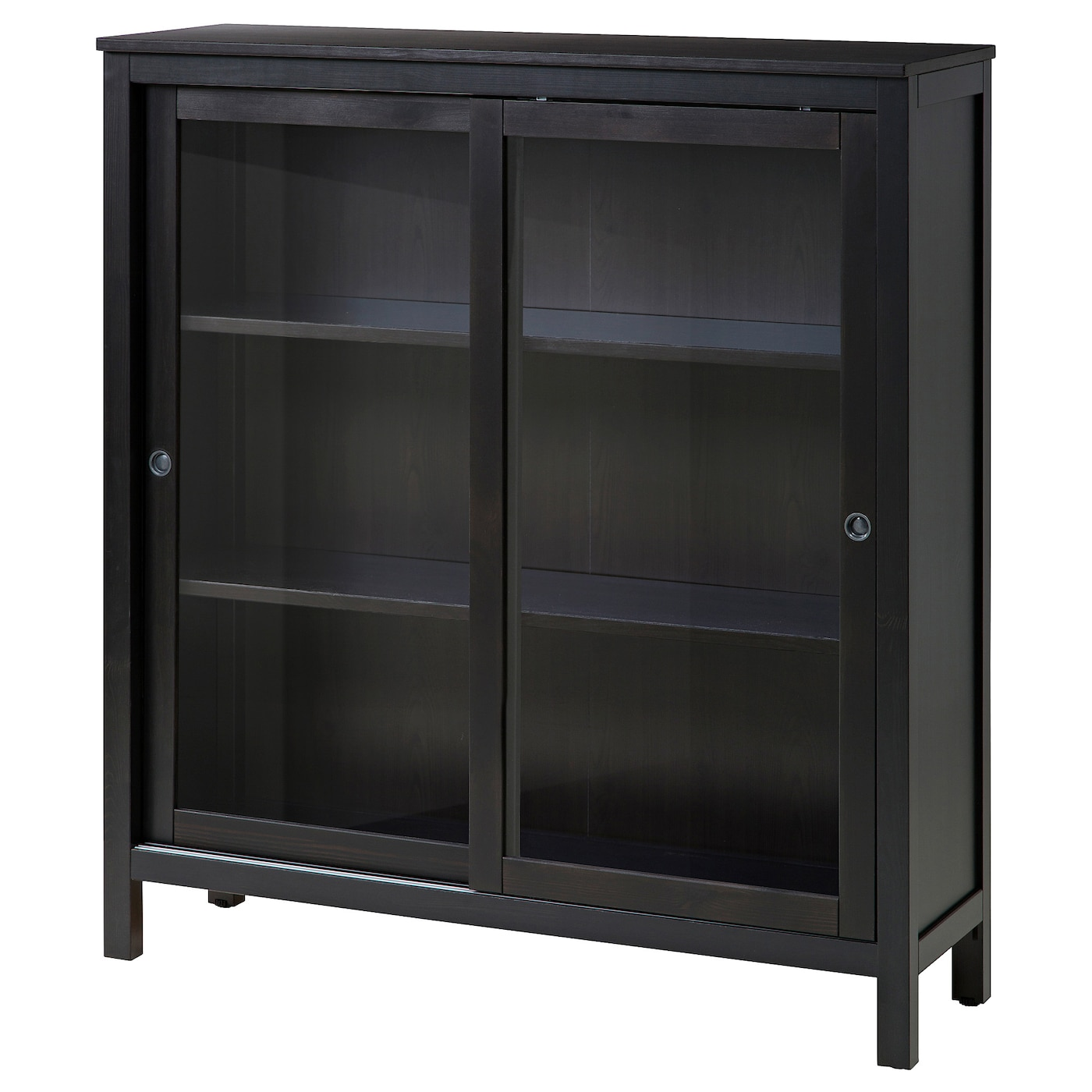 IKEA HEMNES Glass Door Cabinet Sliding Doors Do Not Take Up Any Space When  Opened Part 70
