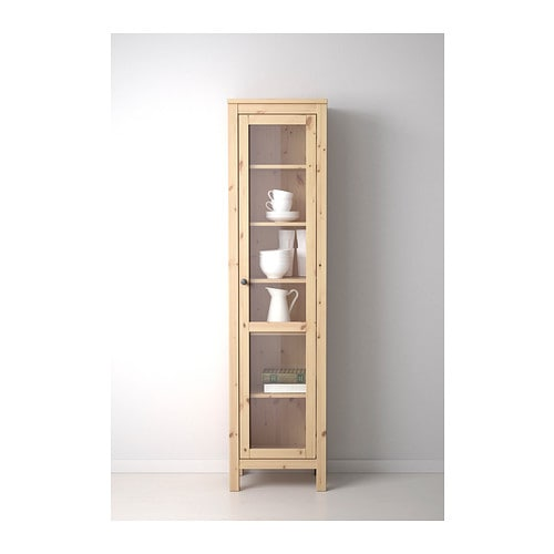 Ikea Garderobekast Verlichting ~ IKEA HEMNES glass door cabinet Solid wood has a natural feel 1 fixed