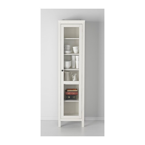 hemnes glass door cabinet white stain 49x197 cm ikea. Black Bedroom Furniture Sets. Home Design Ideas