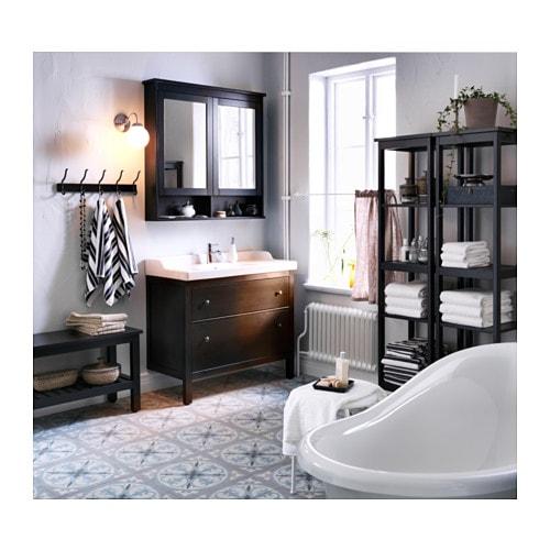 Hemnes mirror cabinet with 2 doors black brown stain - Catalogue ikea salle de bain pdf ...
