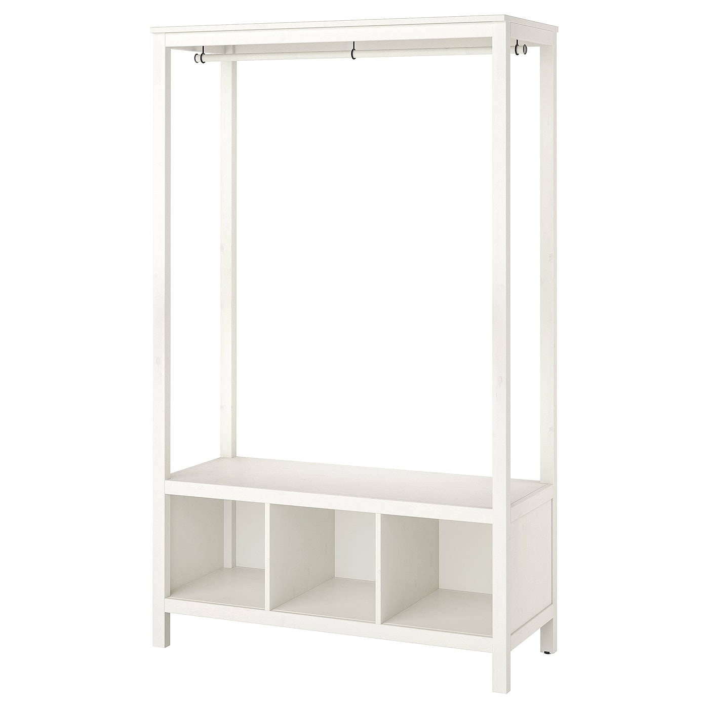 IKEA HEMNES open wardrobe Made of solid wood, which is a hardwearing and warm natural material.