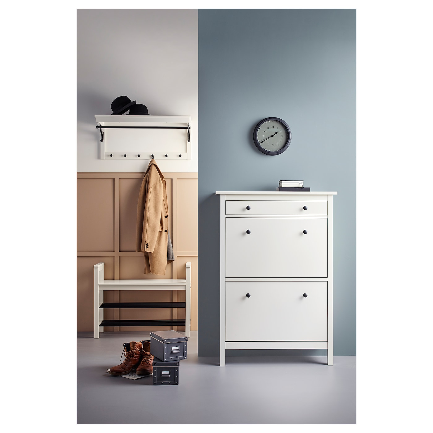 ikea hemnes shoe cabinet hemnes shoe cabinet with 2 compartments white 89 x 127 cm 17599