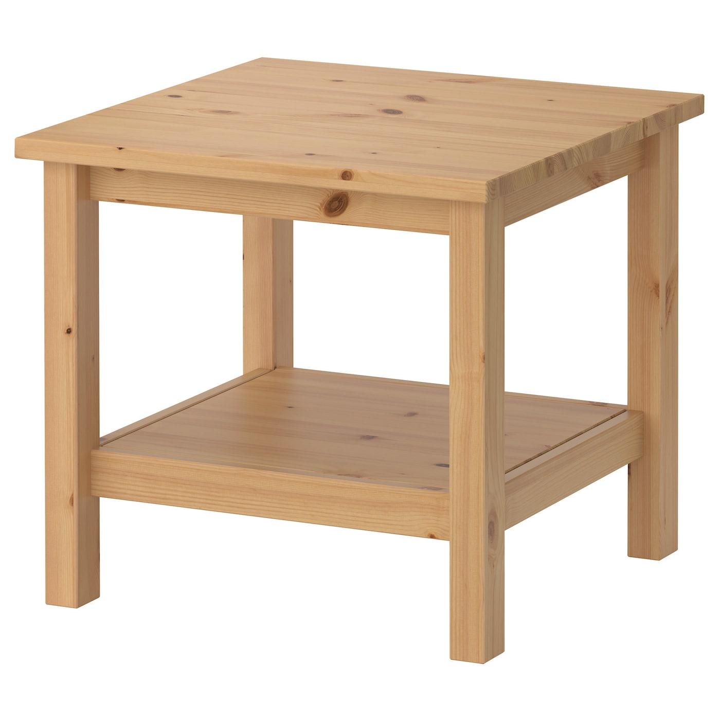 Hemnes side table light brown 55x55 cm ikea for Table lit ordinateur ikea