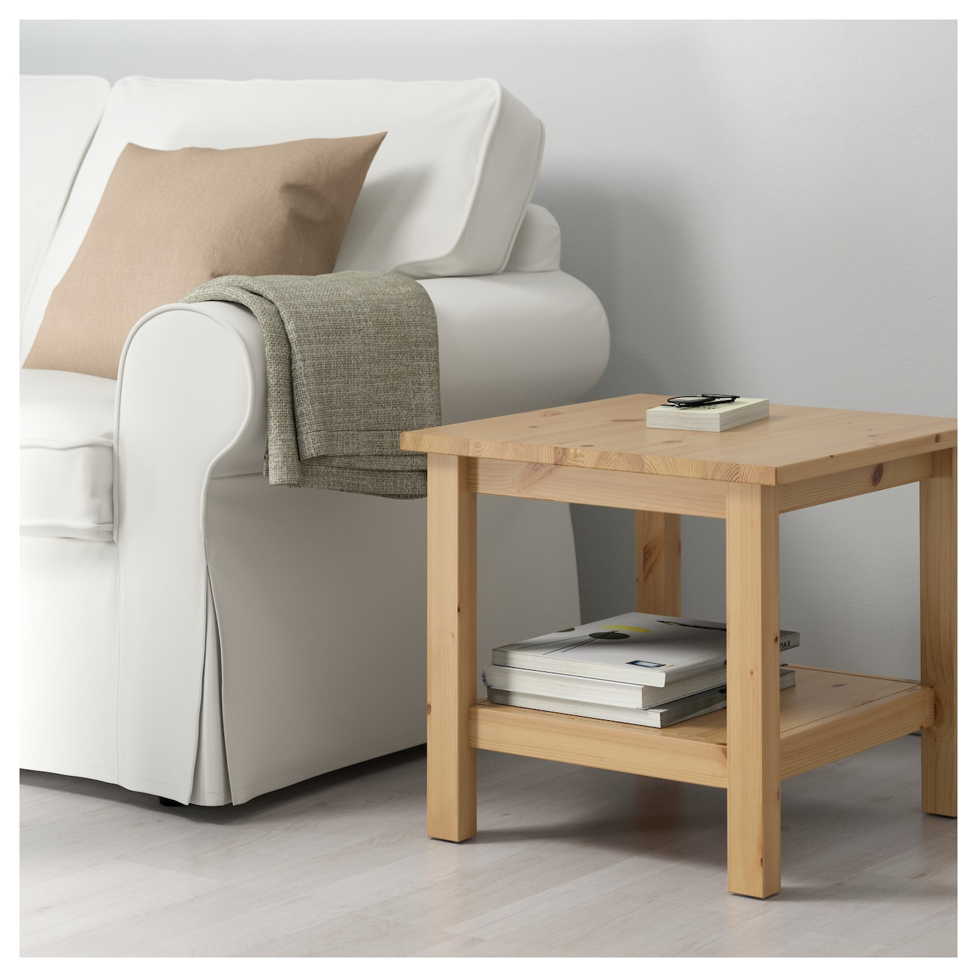HEMNES Side Table Light Brown 55x55 Cm