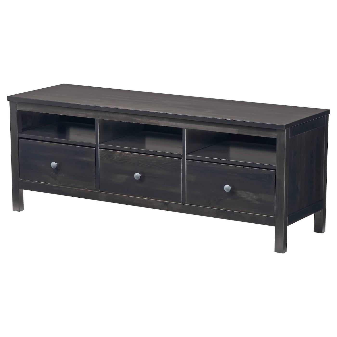 hemnes tv bench black brown 148 x 47 x 57 cm ikea. Black Bedroom Furniture Sets. Home Design Ideas