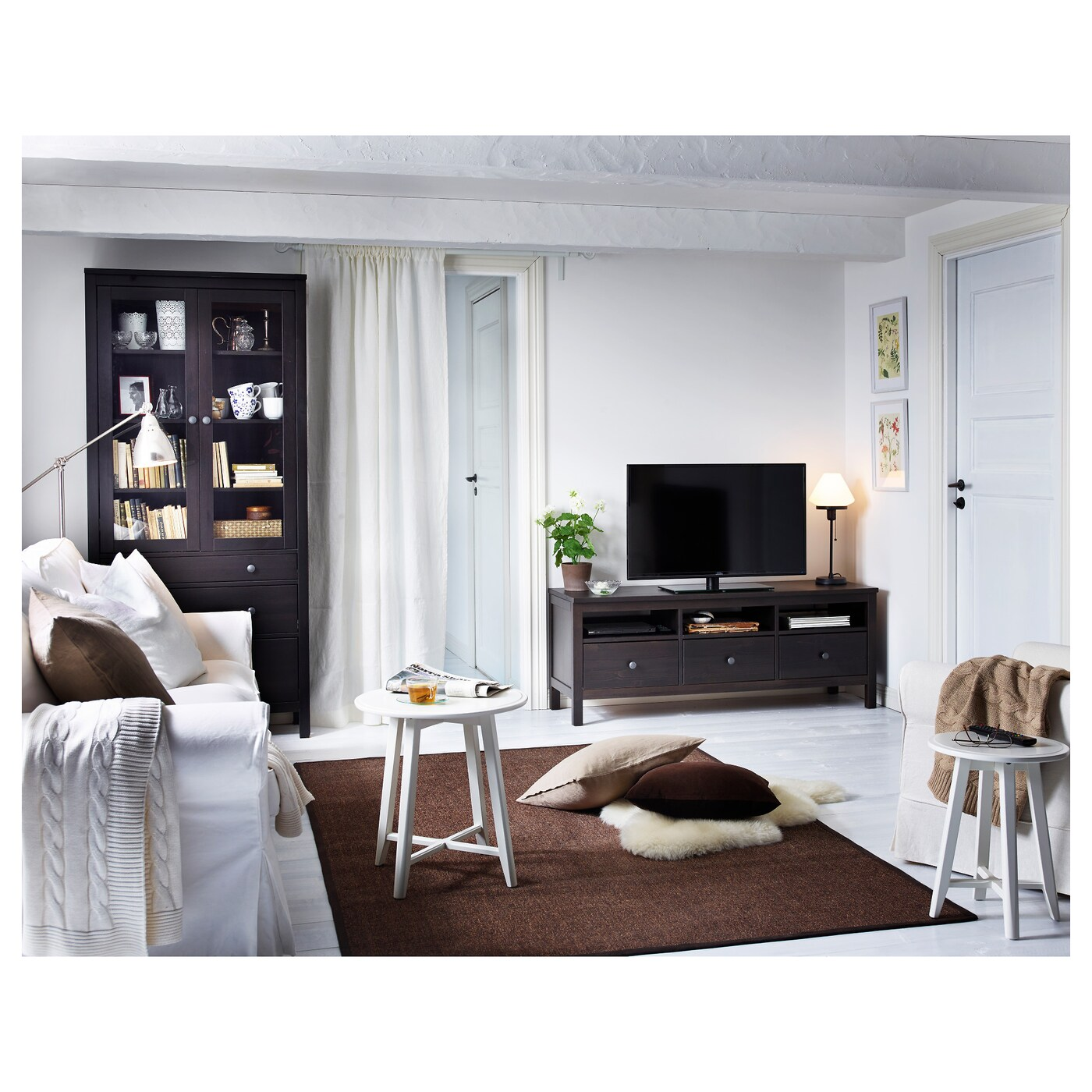 Ikea Hemnes Tv Stand Price : IKEA HEMNES TV bench Solid wood has a natural feel Open compartments