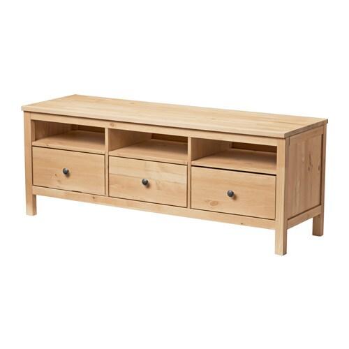 HEMNES TV bench Light brown 148x47 cm IKEA