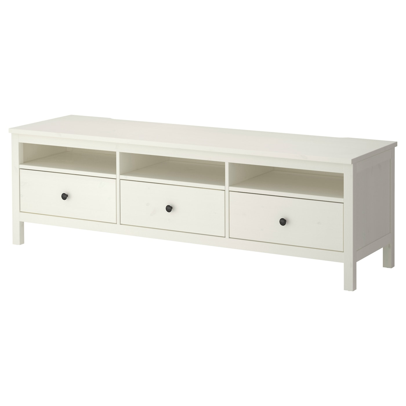 Hemnes tv bench white stain 183x47 cm ikea Storage bench ikea