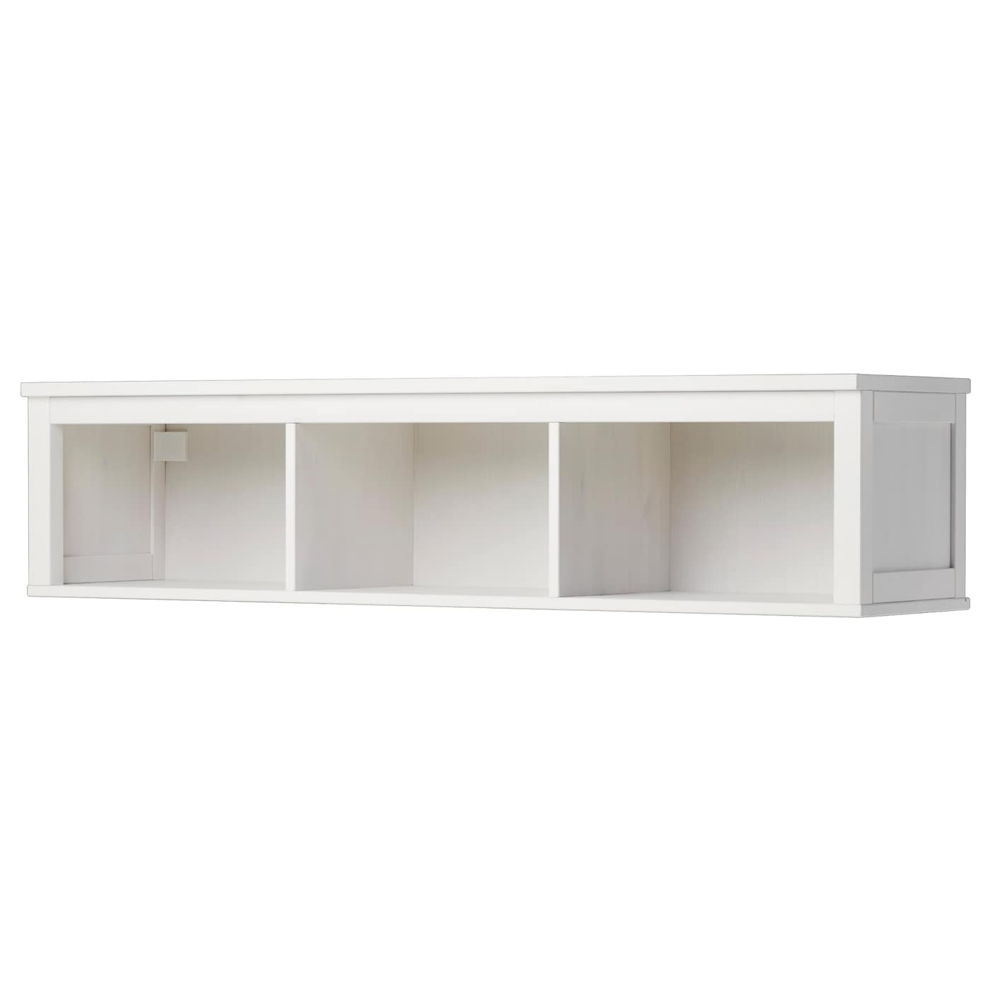 hemnes wall bridging shelf white stain 148x37 cm ikea. Black Bedroom Furniture Sets. Home Design Ideas