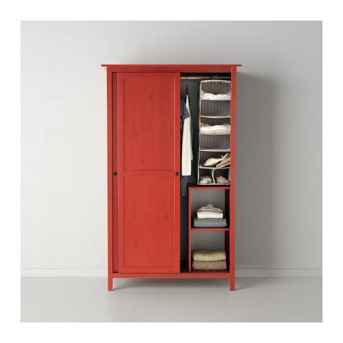 Hemnes wardrobe with 2 sliding doors red 120x197 cm ikea - Hemnes rot ...