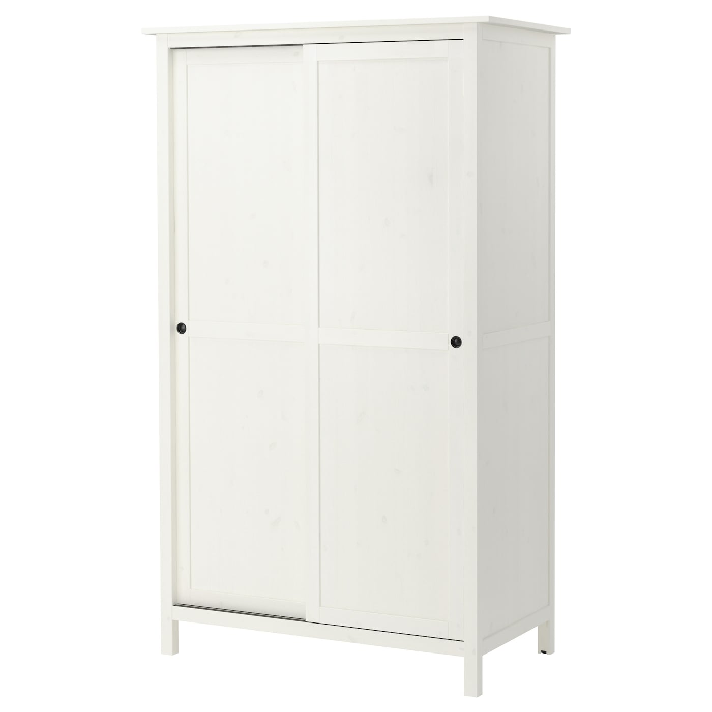 Hemnes wardrobe with 2 sliding doors white stain 120x197 for Armoire chambre 180 cm