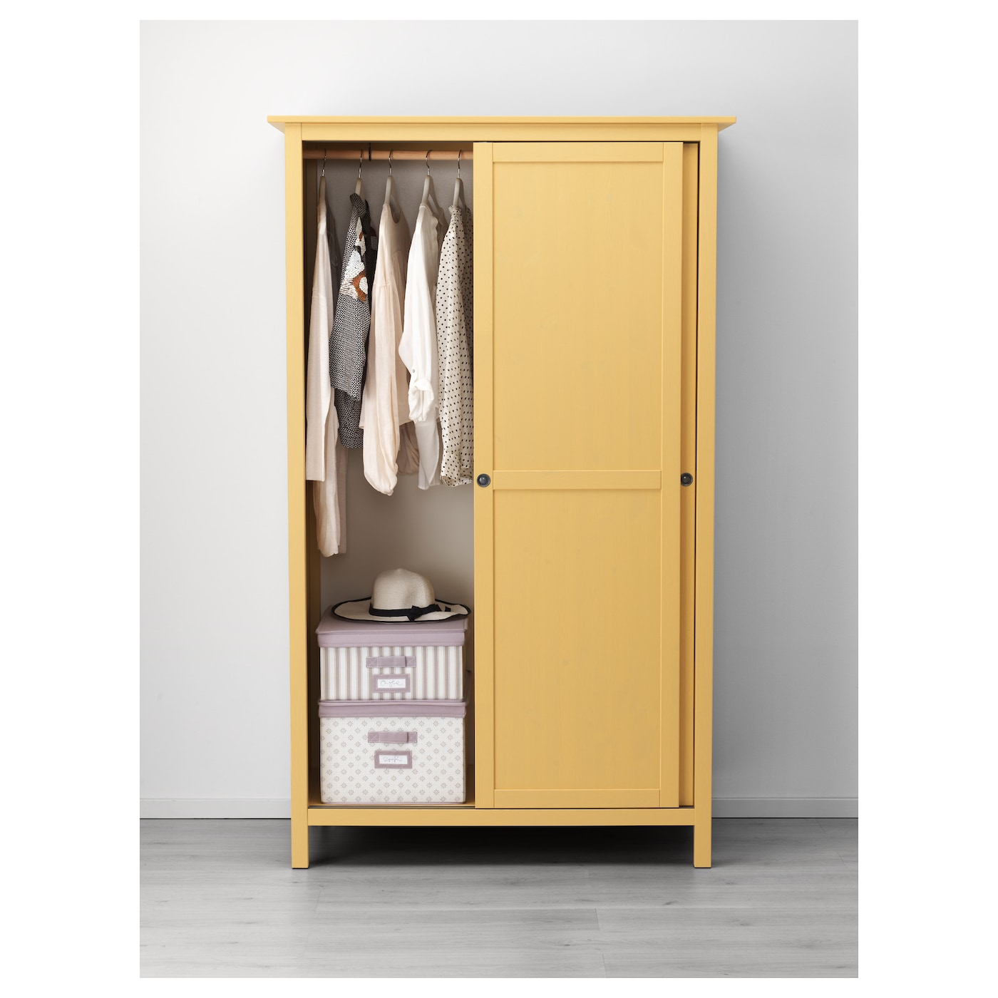 HEMNES Wardrobe with 2 sliding doors Yellow 120x197 cm IKEA