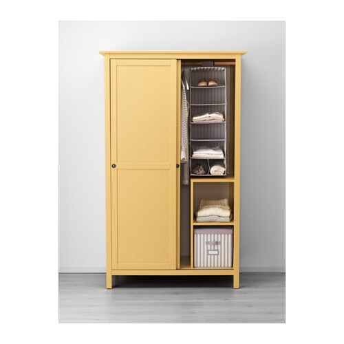 How To Make A Free Standing Wardrobe With Sliding Doors: HEMNES Wardrobe With 2 Sliding Doors Yellow 120x197 Cm