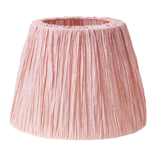 Ikea hemsta lamp shade the shade is easy to keep clean for Ikea pink floor lamp