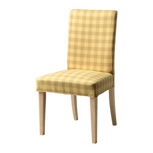 HENRIKSDAL Chair Birch Skaftarp Yellow IKEA
