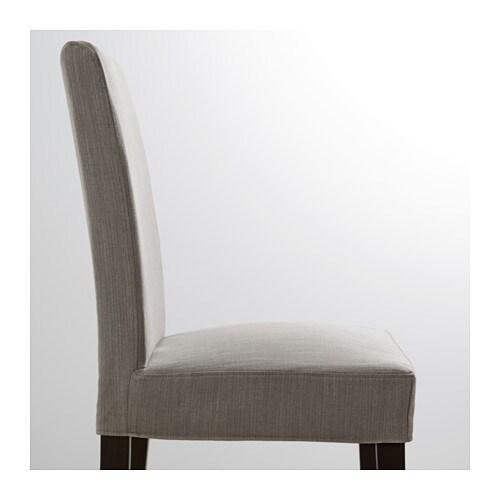 HENRIKSDAL Chair Brown Black Nolhaga Grey Beige IKEA