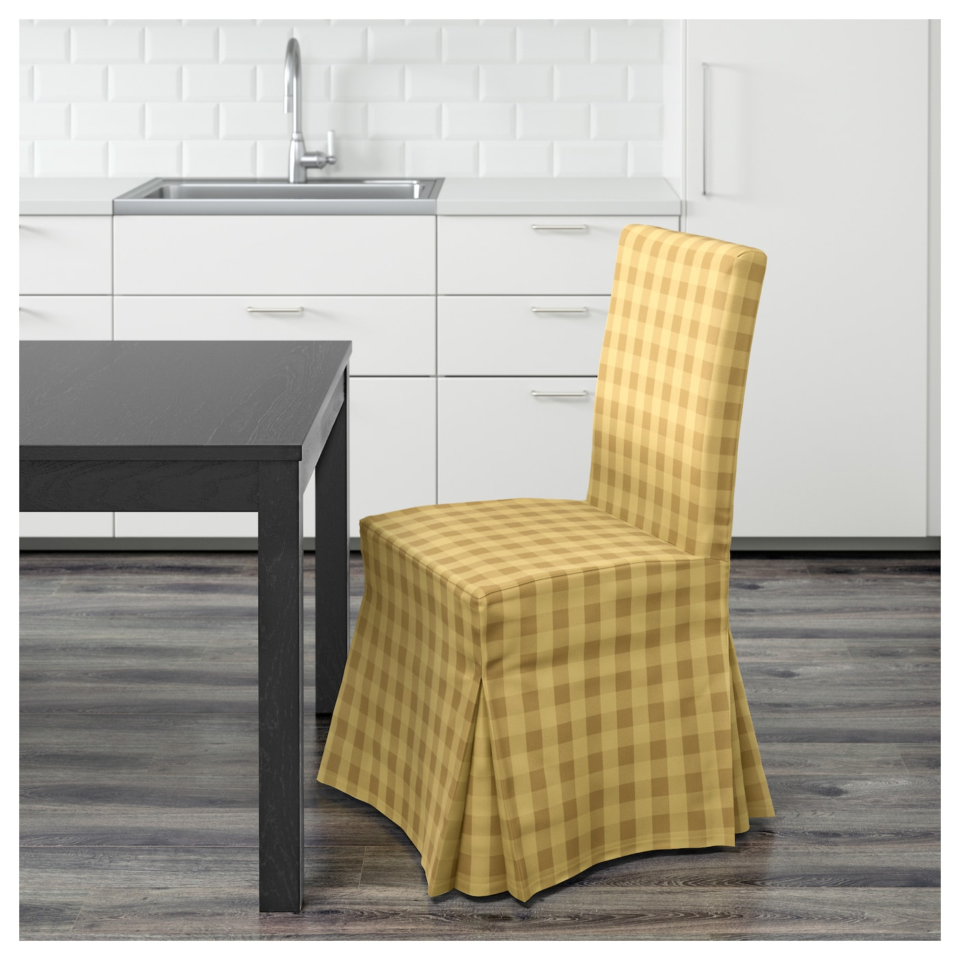 IKEA HENRIKSDAL chair with long cover Machine washable cover; easy to keep clean.