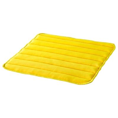 HERDIS Chair pad, bright yellow, 37x37x1.8 cm