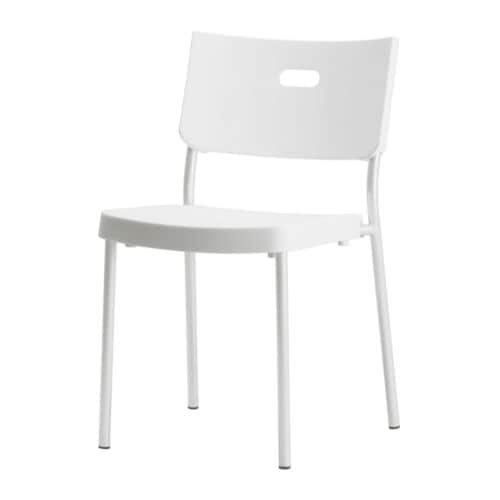 Herman chair white ikea - Chaise plastique transparent ikea ...